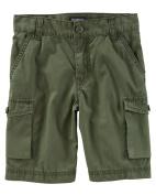 OshKosh B'gosh Little Boys' Cargo Shorts, Olive, 5 Kids