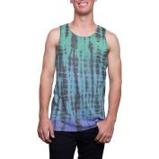 Big Men's Tie Dye Burnout Tank Top, 2XL
