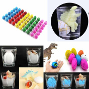 Iuhan 60pcs/Box Grow Eggs Dinosaur Hatching Egg Large Expansion Kids Educational