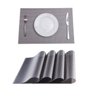 Set of 4 Placemats,Placemats for Dining Table,Heat-resistant Placemats, Stain Resistant Washable PVC Table Mats,Kitchen Table mats