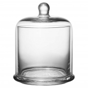 A & B Home Inc. Kingston Clear Glass 13cm x 15cm Lidded Canister