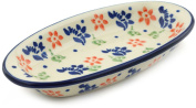 Polish Pottery Condiment Dish 18cm Diamond Daisy