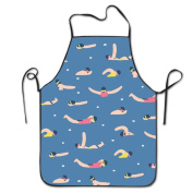 Athletes Swimming Cooking Apron Kitchen Apron Bib Aprons Chief Apron Home Easy Care For Men Women