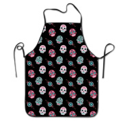 Skull Cooking Apron Kitchen Apron Bib Aprons Chief Apron Home Easy Care For Men Women