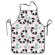 Cute Panda Cooking Apron Kitchen Apron Bib Aprons Chief Apron Home Easy Care For Men Women