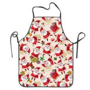 Santa Claus Emoji Cooking Apron Kitchen Apron Bib Aprons Chief Apron Home Easy Care For Men Women