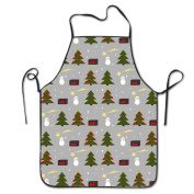 Christmas Tree Cooking Apron Kitchen Apron Bib Aprons Chief Apron Home Easy Care For Men Women