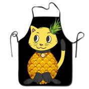 Cat Pineapple Emoji Cooking Apron Kitchen Apron Bib Aprons Chief Apron Home Easy Care For Men Women