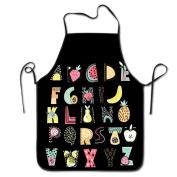 Fruit Letter Art Cooking Apron Kitchen Apron Bib Aprons Chief Apron Home Easy Care For Men Women