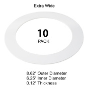 10 Pack White Plastic Goof Trim Ring for 20cm Recessed Can