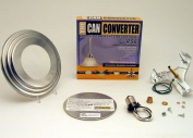 The Can Converter R56 Satin Nickel Recessed Can Light Conversion Kit for 13cm and 15cm Recessed Can Lights