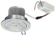 LEMONBEST Brand New 110V Dimmable 7W LED Ceiling Light Downlight Recessed Lighting, Superbright Cool White