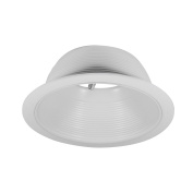 15cm White Baffle Trim with White Ring for 15cm Recessed Can Lighting - Replaces BR30/PAR30/R30