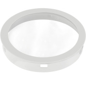 Progress Lighting P8799-30 Top Cover Lenses For P5675 Cylinder Adapts Up/Down Fixtures For Wet Location Use Heat and Shatter-Resistant Clear Tempered Lens with Black Trim, White