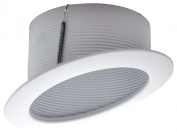 15cm SLOPED ANGLED CAN LIGHT TRIM WITH WHITE BAFFLE TRIM - FOR SLOPED CEILING