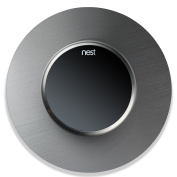 #1 Nest Wall Thermostat Cover (Round) Stainless Steel Outlet Plate | Covers Holes, Wires, Painting, Patches | Stylish Décor, Easy to Instal | 15cm