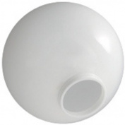 15cm . White Acrylic Globe - 8.3cm . Extruded Neck Opening - American 3201-50650