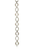 RCH Hardware Decorative Polished Nickel Solid Brass Chain for Hanging, Lighting - Small Round Unwelded Links with X Design