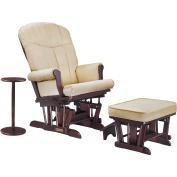 Shermag Glider Recliner w/multiposition lock, ottoman & coffee table - Cherry/Bella Buckwheat