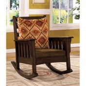 Furniture of America Edward Rocker in Dark Oak