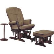 Shermag Glider Recliner w/multiposition lock, ottoman & coffee table - Cherry/Bella Coffee
