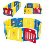 kidzone baby playpen kids 8 panel safety play centre yard home indoor outdoor pen