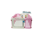 kiddygem 10 panel m7 extra tall baby playpen, pink