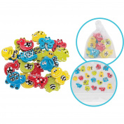 Playgro Animal Friends Bath Shapes with Net and Suction Cup, 22pk