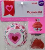 Wilton Love Cupcake Comb Pack 24ct