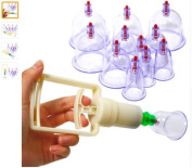 Chinese Medical 12 cups Vacuum Body Cupping Set