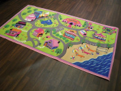 Non Slip Kids Girls World Road Large Play Mat /Rug 100cm x 190cm