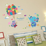 Kids Room Cute Little Balloon Wall Stickers Removable