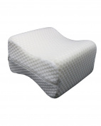 Lonior Orthopaedic Knee Pillow Leg Pillow Memory Foam Positioner Leg Pillow with Removable Cover for Hip, Back, Leg Pain, Pregnancy, Side Slipper .