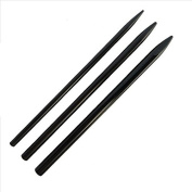 3 Different Size Black Paracord Lacing Needles by Jig Pro Shop