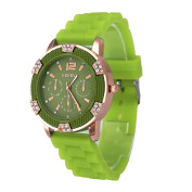 Hotsale! Wensltd Unisex Silicone Rubber Jelly Gel Quartz Casual Sports Wrist Watch