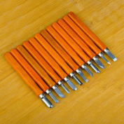 SIMILK Alloy Steel Wood Carving Tools, Crafting Chisel with Leather Finger Guard, Protective Cover & Storage Case