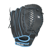 Wilson Flash Youth Fastpitch Softball, Black/Columbia Blue