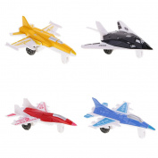 MonkeyJack 4PCS Aeroplane Toys Die Cast Metal Military Themed Assorted Fighter for Kids
