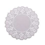 kKINGZHUP 200 pcs 11cm White Round Disposable Lace Paper Doilies Cake Placemats Crafting Coaster of Tableware Decoration