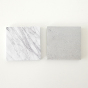 !! Tag marble + concrete pattern two sets stationery memo office PC photogenic North Europe marble concrete photography monotone stationery Shin pull present giftwrapping art of black
