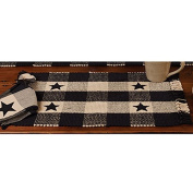 The Country House Collection Country Black Star Cheque Placemats - Set of 4