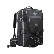 Equator Backpacking Cabin Luggage - Flight Approved Backpack, with integrated Rain cover, waist and chest straps.