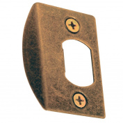 Prime-Line Deadlatch Door Strike 2.5cm - 1.6cm Antique Brass Steel