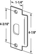 Prime-Line Replacement Lip Strike 5.1cm 10cm - 2.2cm X 2.5cm - 0.6cm Chrome Finish