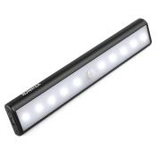 AVANTEK LED Closet Light Motion Activated, 10 LEDs Cabinet Light, PIR Motion Sensor Light Bar, LED Night Light Flashlight, with Built-In Magnetic Strip for Closet, Cabinet, Wardrobe, Stair, Washroom