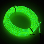 Cefrank 10ft 3m Neon Light El Wire with Battery Pack Neon Glowing Strobing Electroluminescent Wire