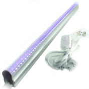QUANS 12W T5 LED UV Ultra Violet Black Light Tube for Curing Authentication Currency Stain Detector DJ Party Dorm Hotel Club Halloween Glow in the dark and Special effects