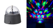 Rotating Crystal Ball LED Light Dome Battery-Operated 8.9cm inch Party Event Stage Effects Lighting