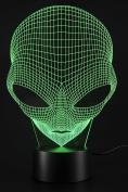 PowerTRC Lamp USB Power 7 Colours Amazing Optical Illusion 3D Grow LED Lamp Alien Shapes Children Bedroom Night Light