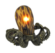 Resin Accent Lamps Tl3740a Amber Glass Octopus Accent Lamp Bronzed Base 5.5 X 15cm X 18cm Amber